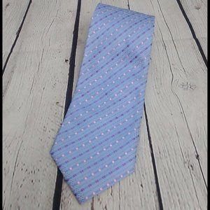 Giorgio Armani Purple Pink Woven diamond silk tie